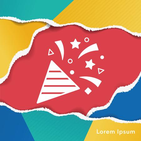 ribbon: birthday ribbon icon