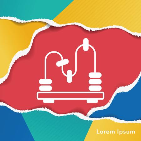 educational: toy Educational Block icon Illustration