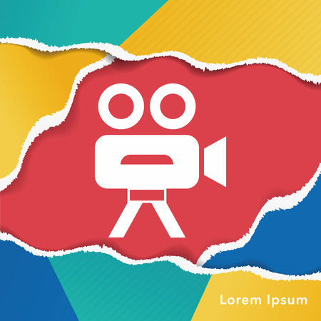 cams: video cam icon Illustration