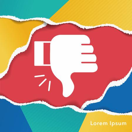 no gustar: dislike icon