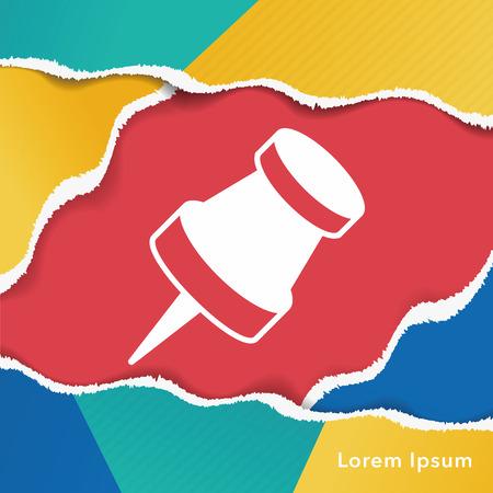 tack: pushpin icon