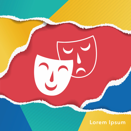 opera: opera mask icon Illustration