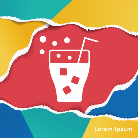 cinema screen: theater drinks and popcorn icon