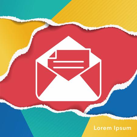 e mailing: e-mail icon Illustration