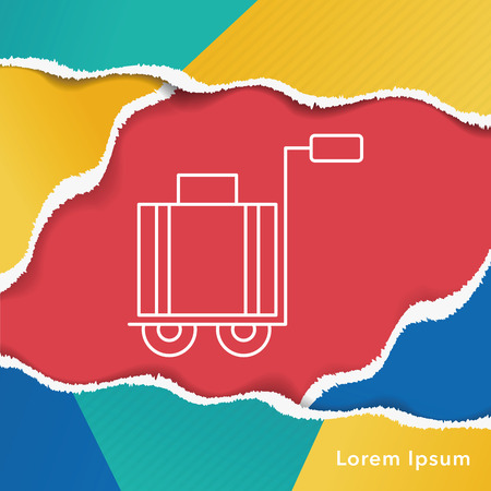 trolley case: suitcase trolley line icon