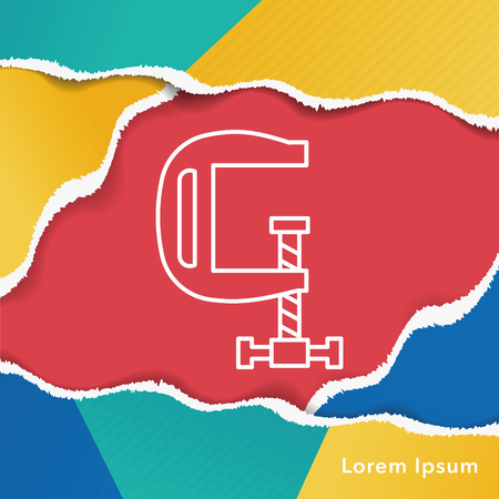 clamp: clamp line icon