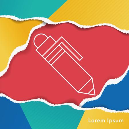 writing equipment: pen line icon