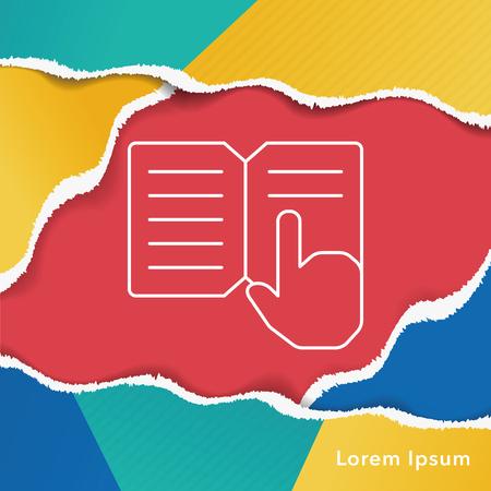 read magazine: book line icon