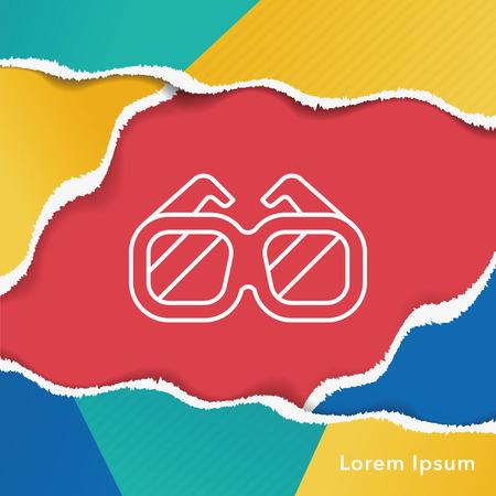 swim goggles: Goggles line icon Illustration