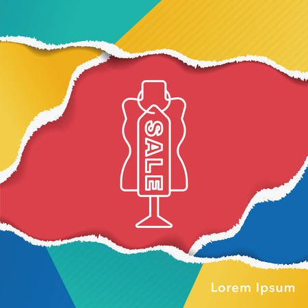 label tag: sale discount line icon