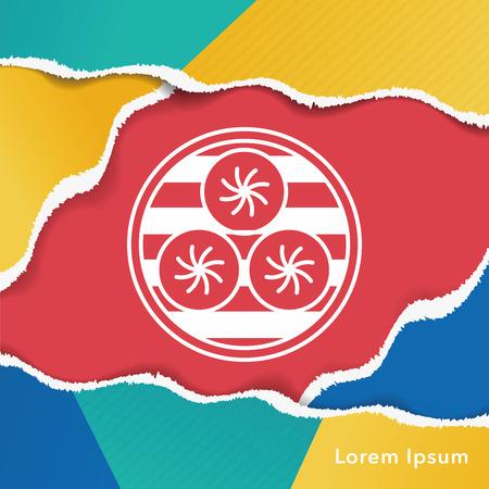 bao: Steamed stuffed bun icon Illustration