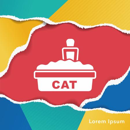 litter: cat litter box icon