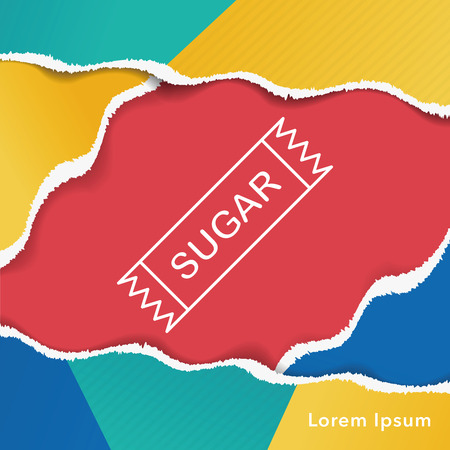 sugar cube: sugar line icon
