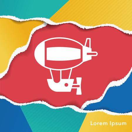 airship: airship icon Illustration