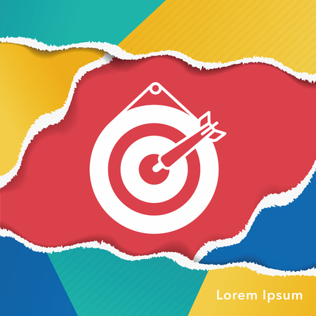archery target: Archery target icon Illustration