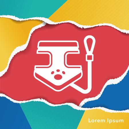 buckles: dog lead icon Illustration