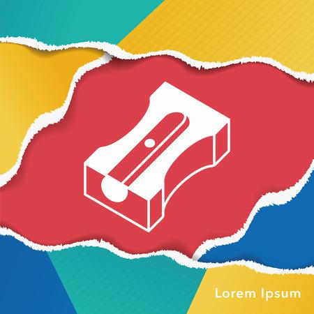sharpener: Pencil sharpener icon Illustration
