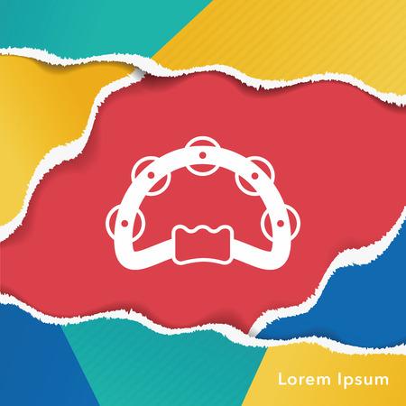 tamburello: Tambourine icon