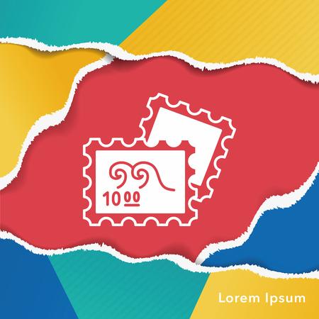 recoger: recoger icono de sello Vectores