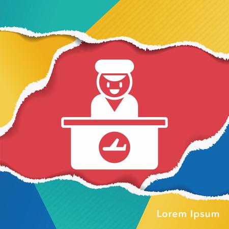 information desk icon 向量圖像