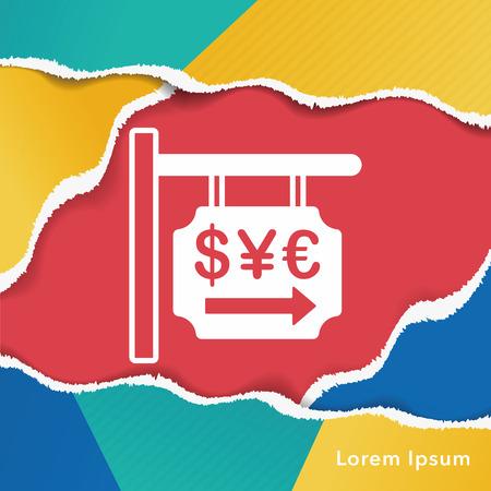 money exchange: money exchange icon Illustration