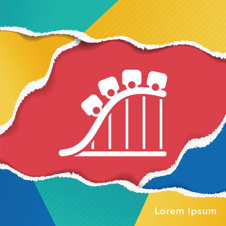 carnival ride: amusement park roller coaster icon