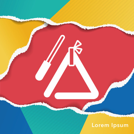 triangle musical instrument: musical triangle icon Illustration