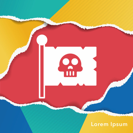 pirate flag: pirate flag icon