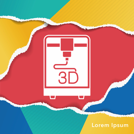 3D printing icon Stock Vector - 46350691