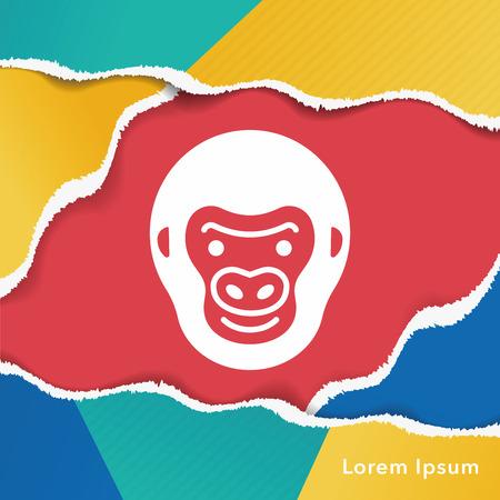 animal: animal monkey icon Illustration
