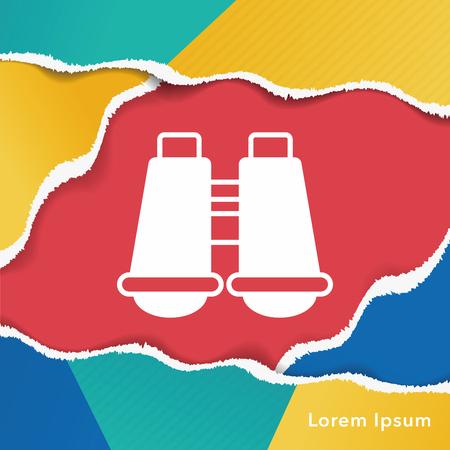 observing: telescope icon Illustration