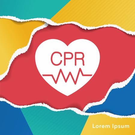 CPR icon 向量圖像