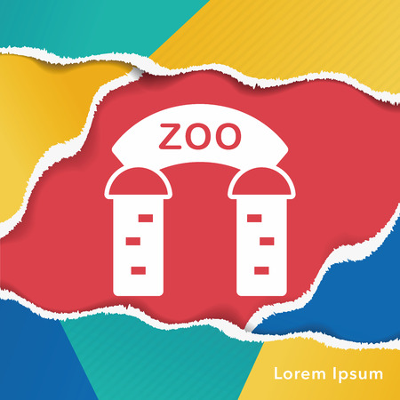 zoological: zoo gate icon