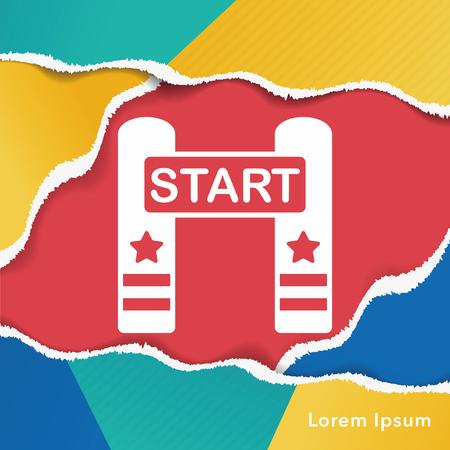 start line: start line icon