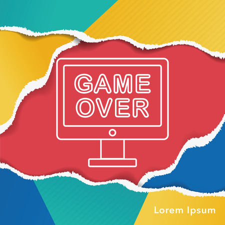 over: game over line icon