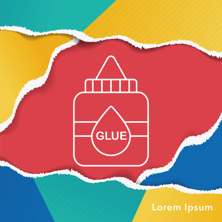 office products: glue line icon