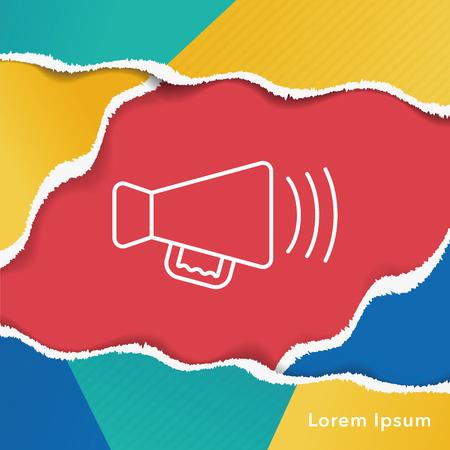 equipment: Sound equipment line icon Illustration