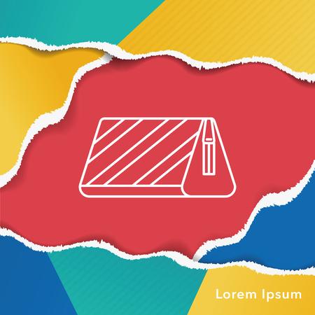 pencil case: pencil case line icon