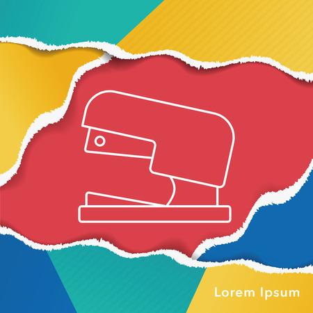 stapler: Icono de línea de la grapadora