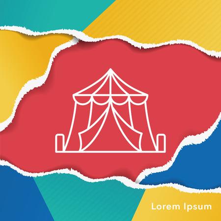 amusement park black and white: circus line icon