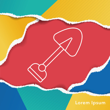 hand trowels: gardening shovel line icon
