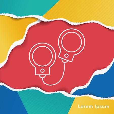 handcuffs: Handcuffs line icon