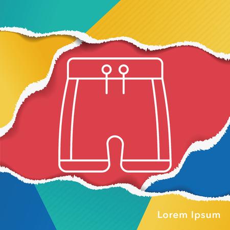 swim suit: swim suit line icon