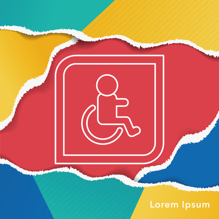 disabled sign: Disabled sign line icon