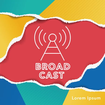 broadcast: broadcast line icon Illustration