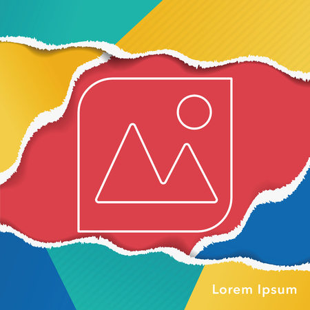 depth of field: camera depth of field line icon Illustration