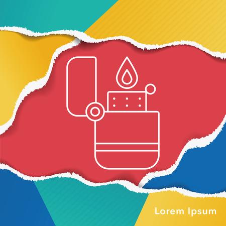 ljusare: Lighter line icon