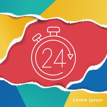 limited: Limited delivery line icon