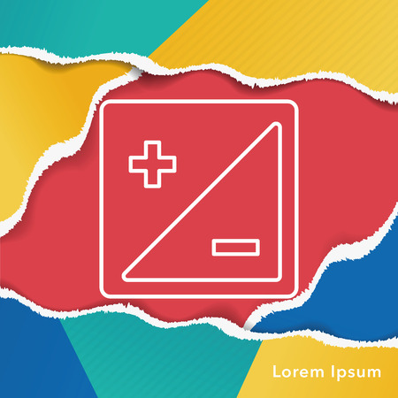 review site: camera zoom mode line icon Illustration
