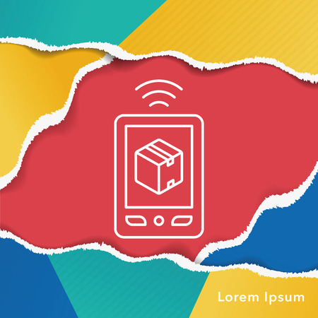 phone line: logistics freight phone line icon Illustration